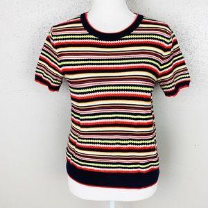 Zara Multicolored Striped Knit Sweater Top Small